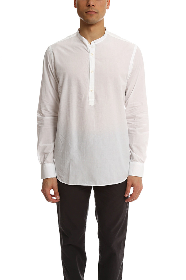 Men's Officine Generale Auguste Shirt in White, Size Large
