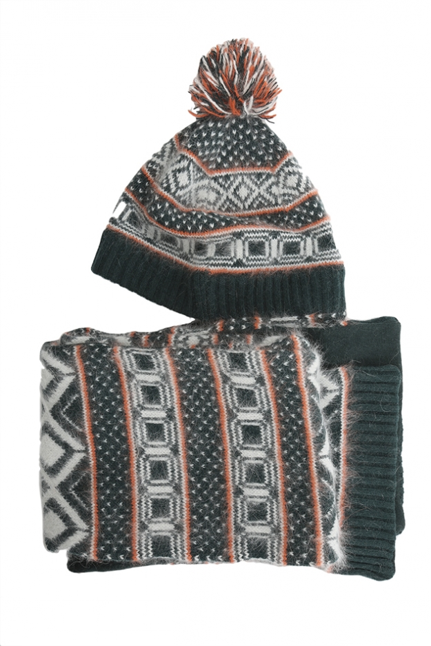 Rag & Bone Grayling Fairisle Hatwrap