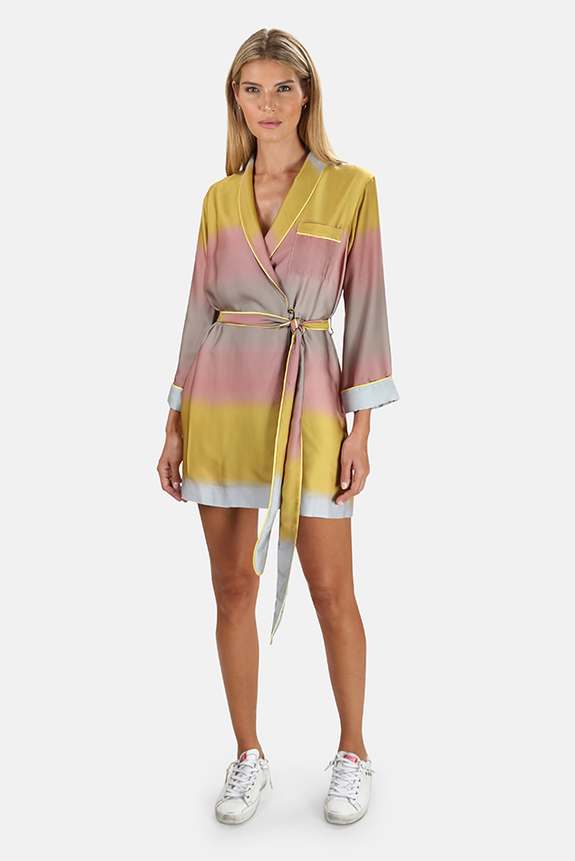 Women's Le Superbe Robe Dress in Ombre Horizon West, Size 6