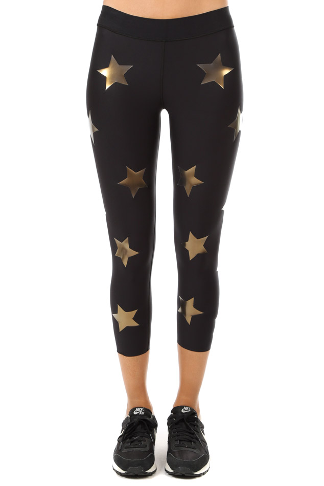 Women's Ultracor Lux Knockout Print Legging in Gold, Size XS