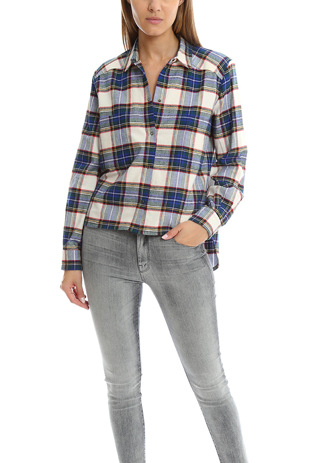 Women's Roseanna Carreaux Button Down Top in Plaid, Size 38