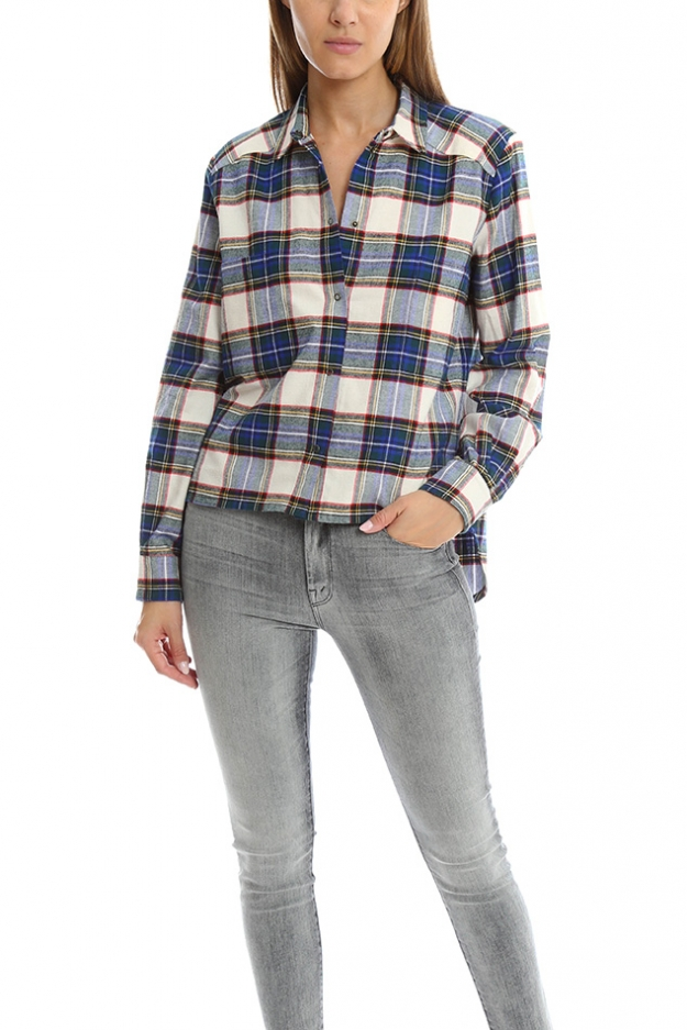 Roseanna Carreaux Plaid Button Down