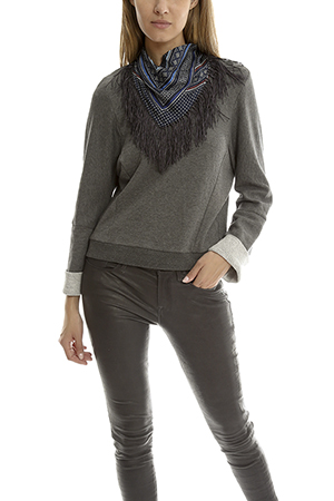 10 crosby derek lam derek lam 10 crosby sweatshirt with detachable scarf