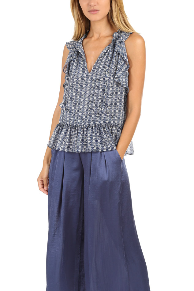 Misa Women's  Los Angeles Anile Top In Blue