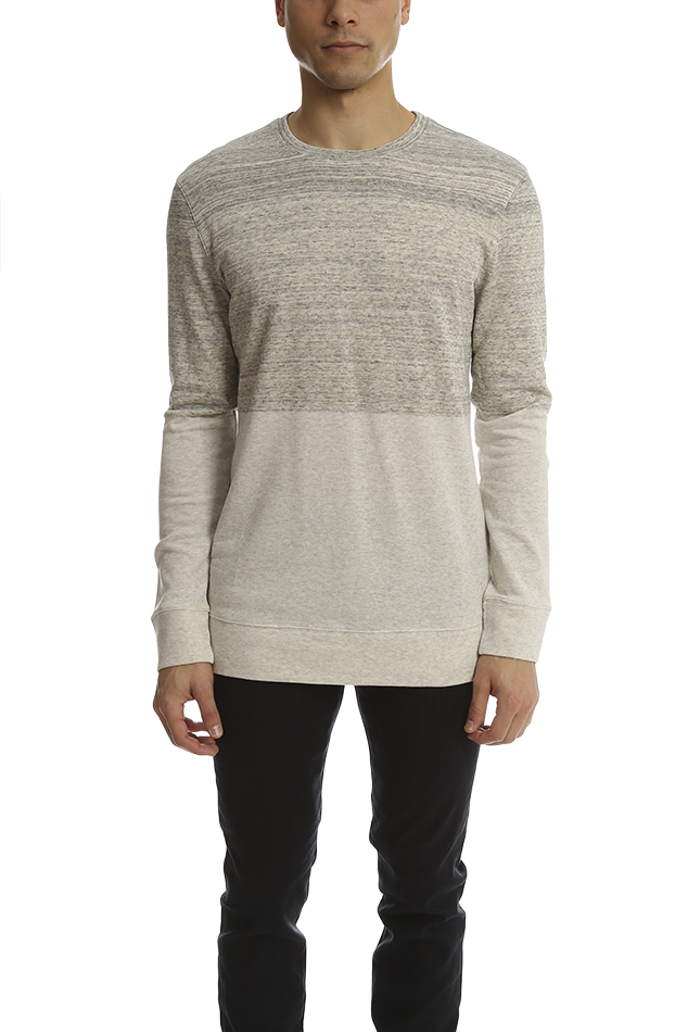 Men's Helmut Lang Crewneck Sweatshirt Sweater in Sand, Size Small
