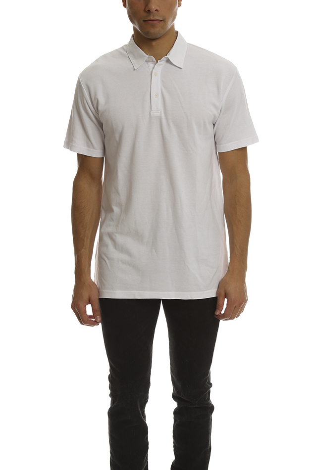 Men's Shades of Grey Polo Shirt in White, Size Small
