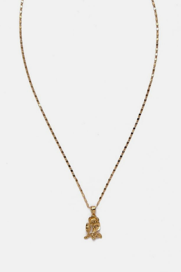 Women's Vanessa Mooney The Mini Rose Necklace in Gold
