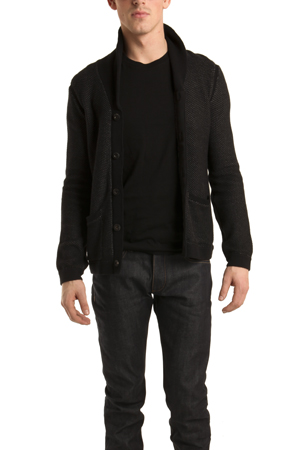 Rag & Bone Avery Shawl Cardigan in Black RBMF4-5