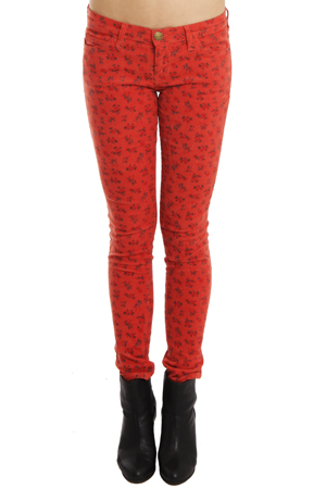 Current/Elliott Ankle Skinny Jean in Poppy Ditsy