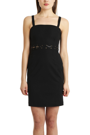 Women's 10 CROSBY BY DEREK LAM Tank Dress Top in Black, Size 2