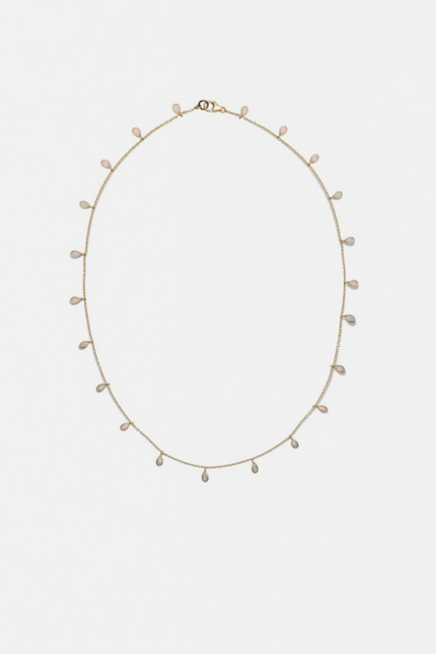 Women's Electric Picks Opal Necklace in Gold