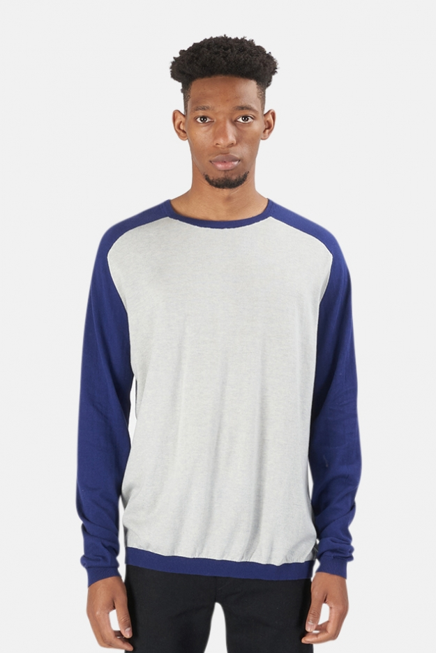 Blue&Cream Cashmere Raglan Sweater