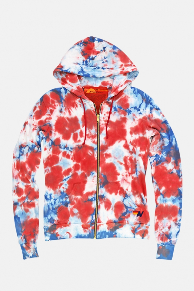 Aviator Nation Tie Dye Zip Hoodie