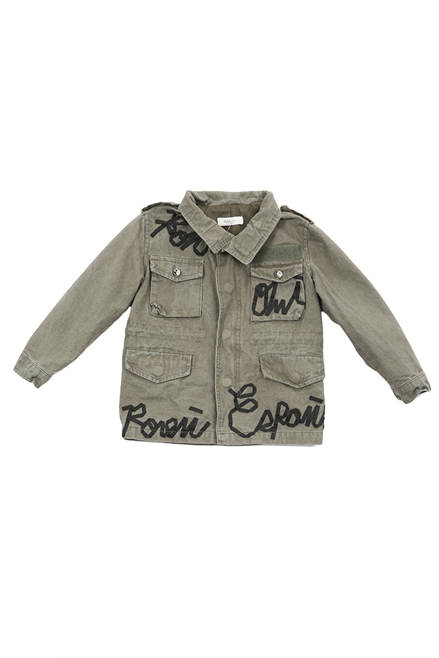 Girl's Hailey Ronnie Jacket in Green, Size 2XL