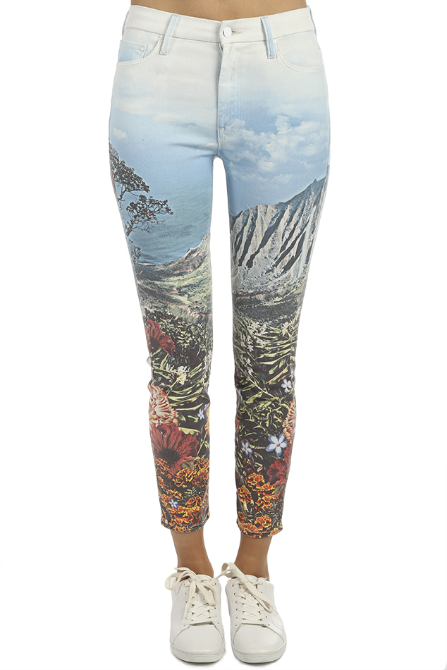 Women's MOTHER High Waisted Looker Ankle Jeans in A Day In Paradise, Size 24