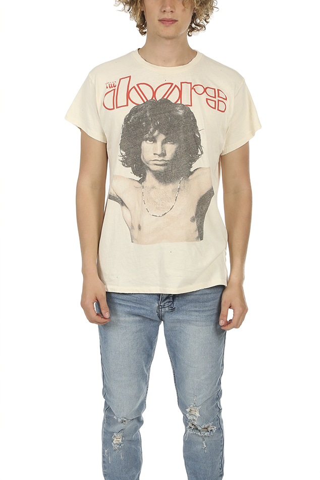 MadeWorn Rock The Doors Morrison T-Shirt in White, Size XS