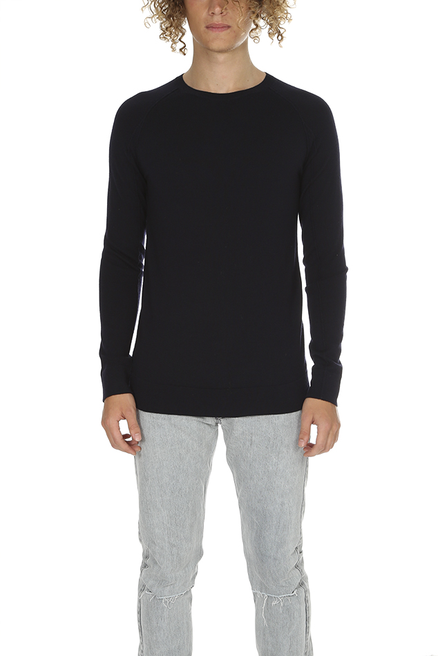 Men's Helmut Lang Crewneck Sweater in Ink, Size XS