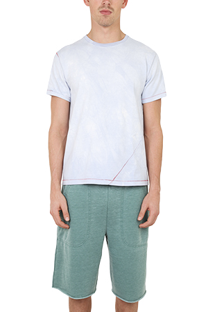 Men's 18 Waits Signature Classic T-Shirt in Cloud Blue, Size Small