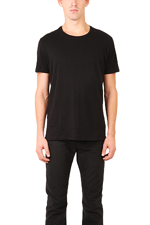 Men's ATM Classic Jersey Crew T-Shirt in Black, Size Large