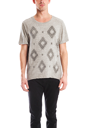 Men's Remi Relief Ikat T-Shirt in Grey, Size 3XL