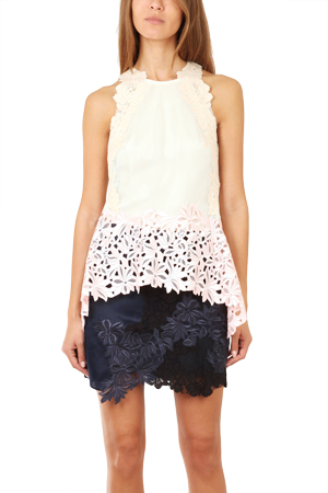 3.1 Phillip Lim Sleeveless Floral Lace Tank LIMH4-8