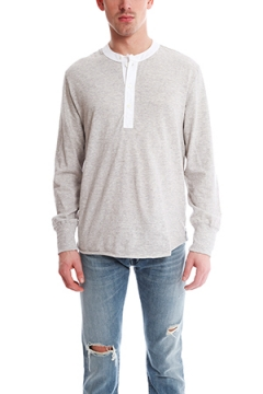 Todd Snyder Classic Henley Grey