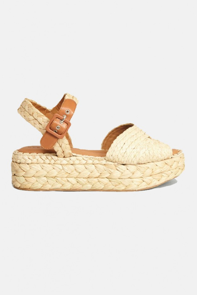 Women's Clergerie Aida Sandal Shoes in Natural, Size 37
