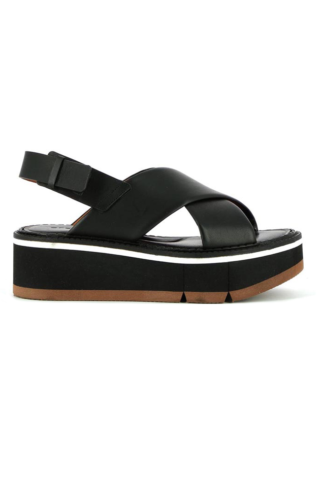 Clergerie CLERGERIE ANAE PLATFORM SANDAL SHOES IN BLACK, SIZE 40