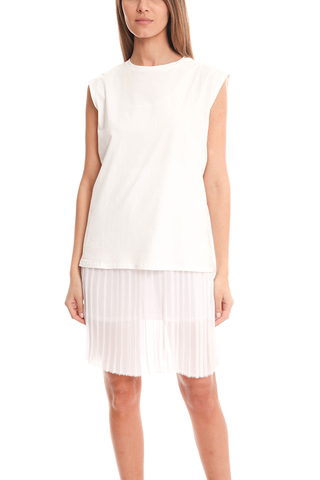 Women's EACH x OTHER Long Pleats Tank Dress in White, Size XS