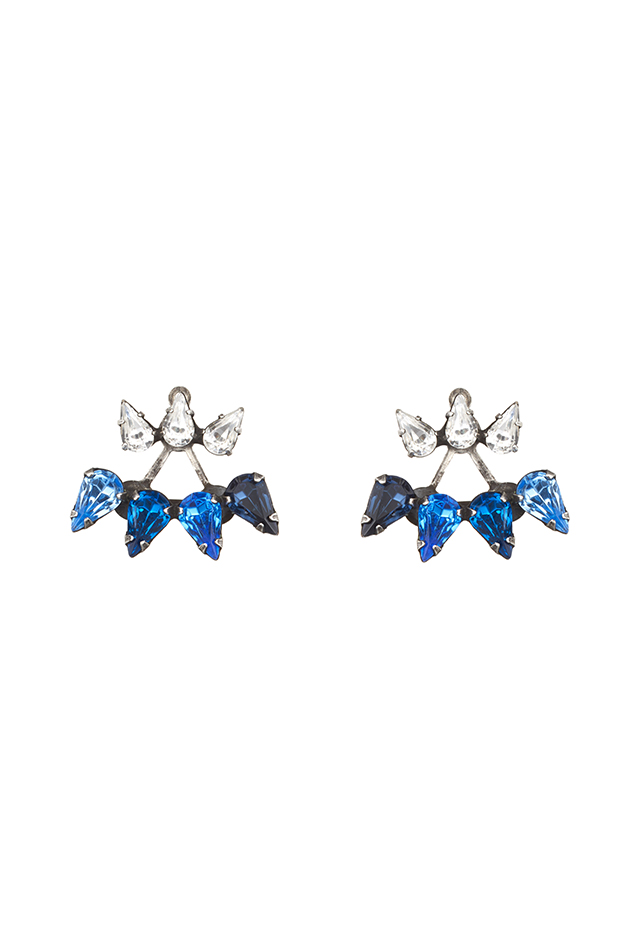 Women's Dannijo Ellie Earrings in Blue
