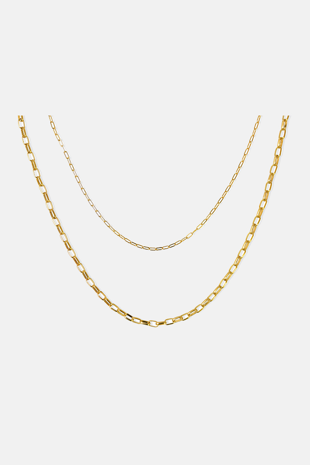 Women's Electric Picks Billie Double Layer Chain in Gold