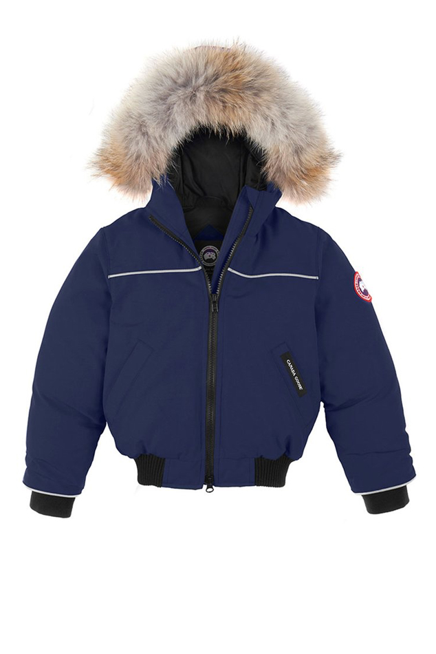 Canada Goose Kids Grizzly Bomber Outerwear in Blue