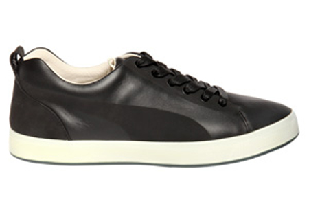 Men's PUMA by Hussein Chalayan Urban Glide Low Leather in Black Shoes in Black/White, Size 8