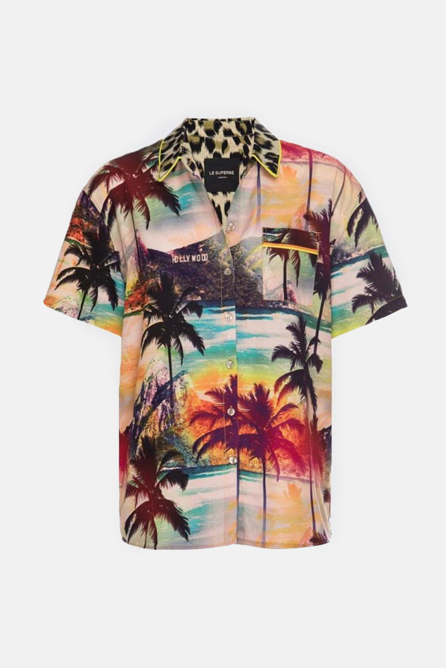 Women's Le Superbe Surf Camp Shirt in Hollywood De Janiero, Size 4