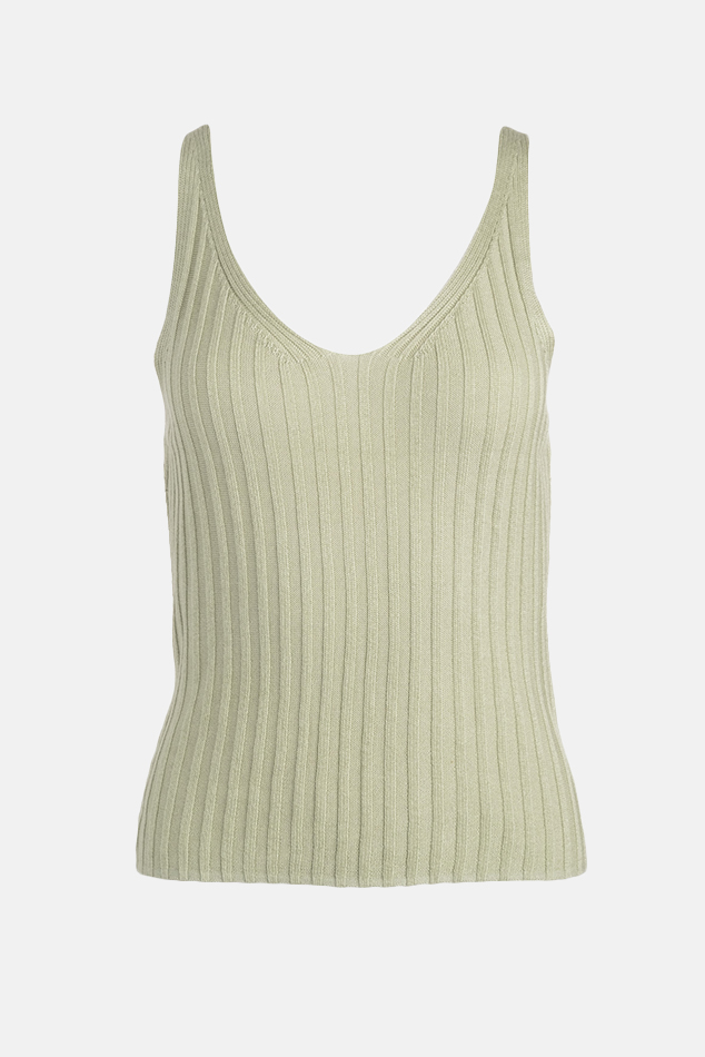 Women's NAADAM Ribbed Tank Top in Avacado, Size XS