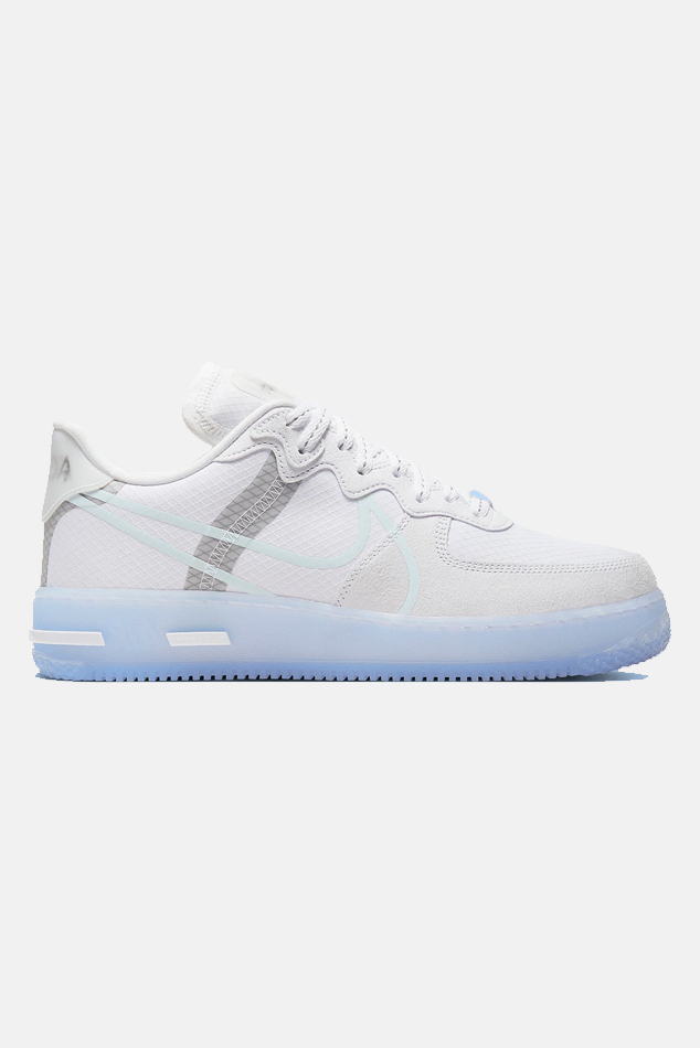 """""""Men's Nike Air Force 1 React """"""""White Ice"""""""" Shoes, Size 10"""""""