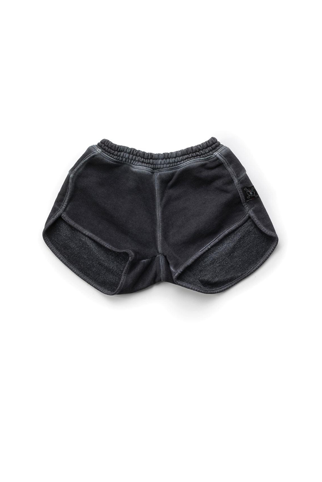 Girl's NUNUNU Dyed Gym Shorts in Dyed Graphite, Size 10-11Y