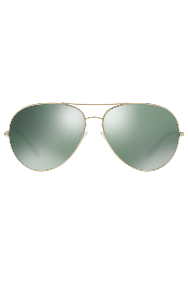 Oliver Peoples Sayer Gold G-15 Sunglasses in Gold/Green