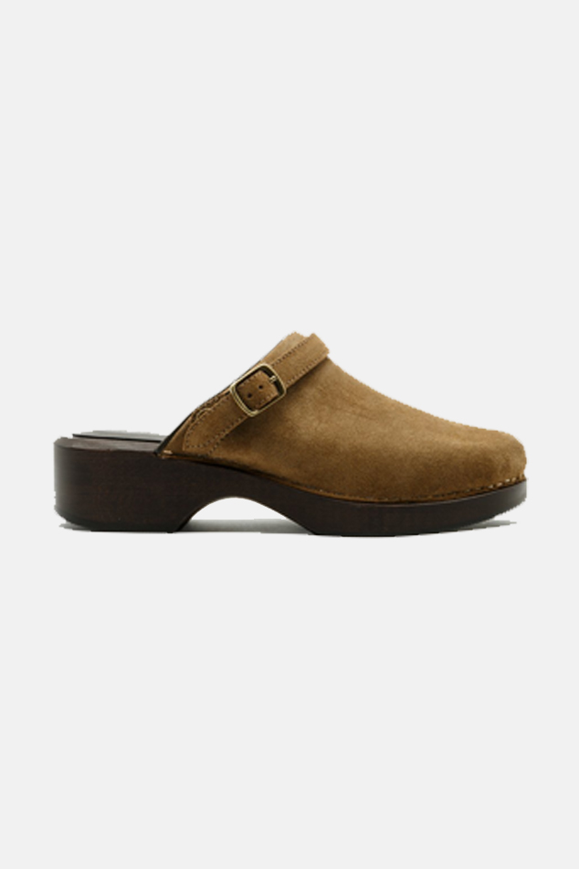 Re/done Suedes WOMEN'S RE/DONE 70S CLASSIC CLOG SHOES