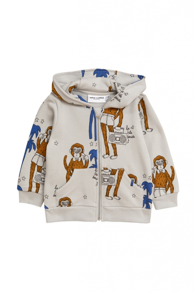 Mini Rodini Cool Monkey Zip Hoodie