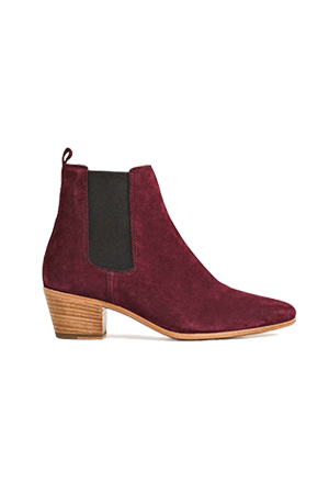 IRO Yvette Burgundy Suede Boots