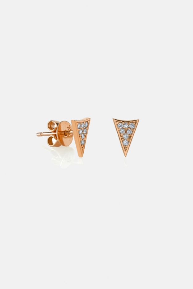Sydney Evan Pavé Diamond Triangle Stud Earrings