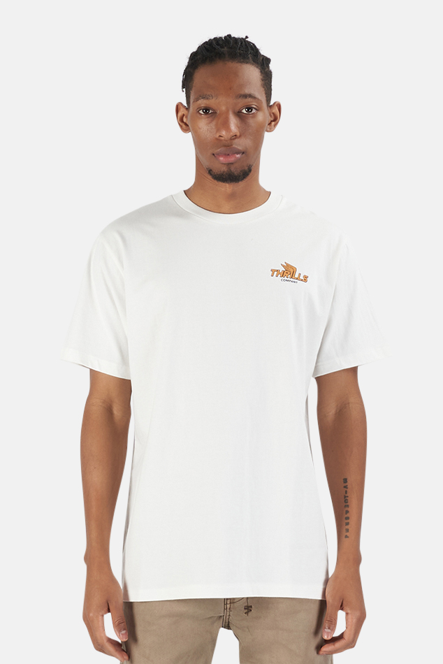 Men's Thrills Burner Merch Fit T-Shirt in White, Size Medium