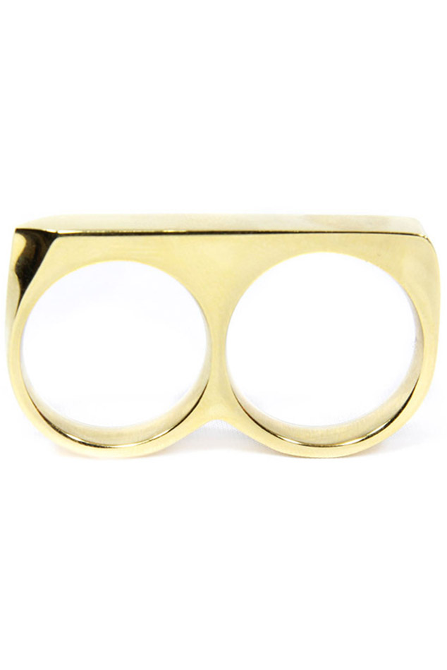 Men's Vitaly Treo Ring in Gold, Size 11