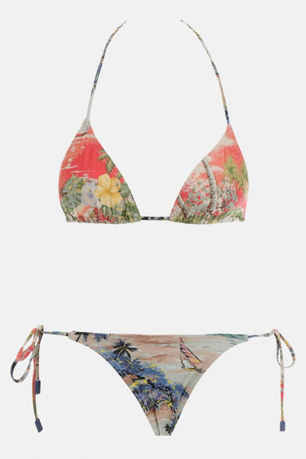 Zimmermann Juliette Spliced Mini Tri Bikini