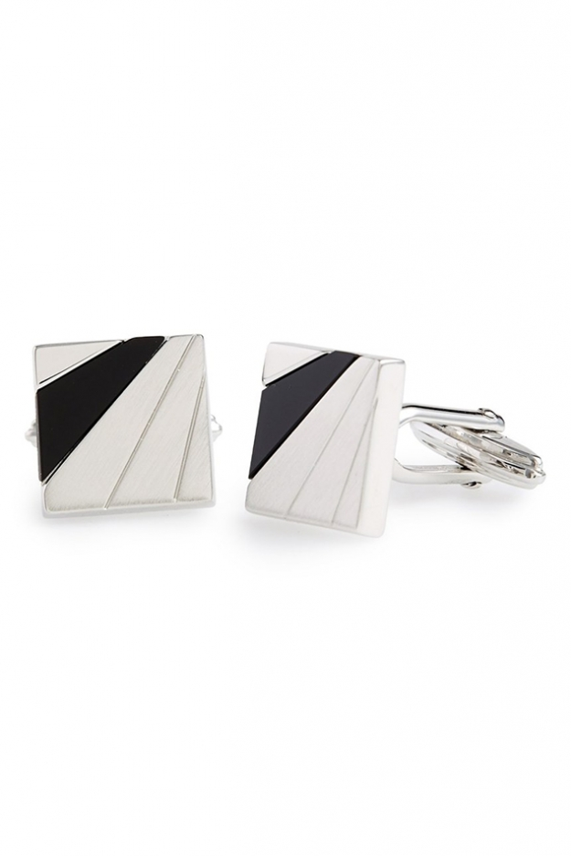Lanvin Square Onyx Cuff Links