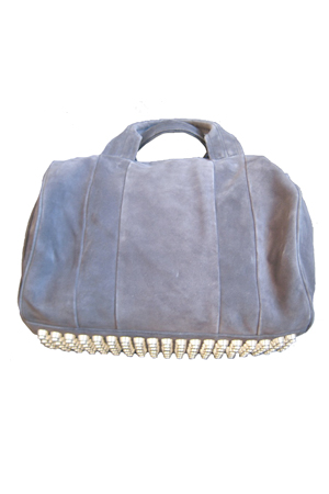 Blue&Cream: Alexander Wang Rocco Mini Duffel in Navy Suede
