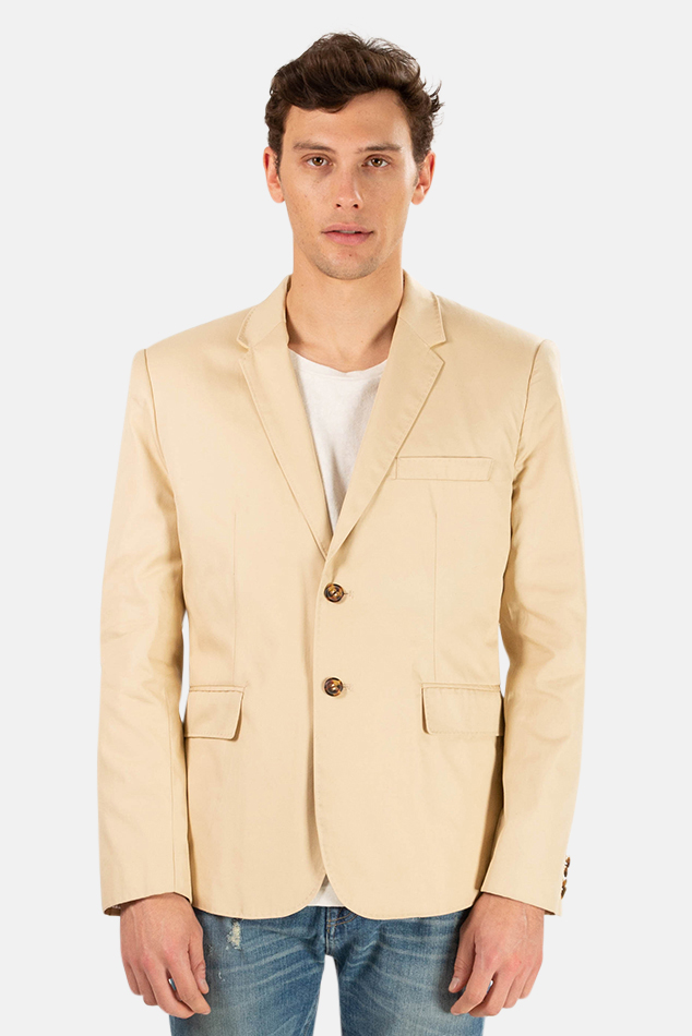 Men's Shipley & Halmos Harrison Twill Jacket in Moon Khaki, Size 33