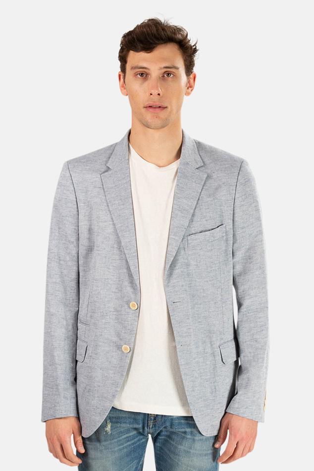 Men's Shipley & Halmos Park Blazer in Blue, Size 42