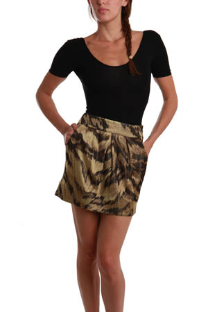 Diane Von Furstenberg - Ginsy Palace Tiger Miniskirt :  tiger print mini ksirt tiger print mini skirt animal print mini skirt